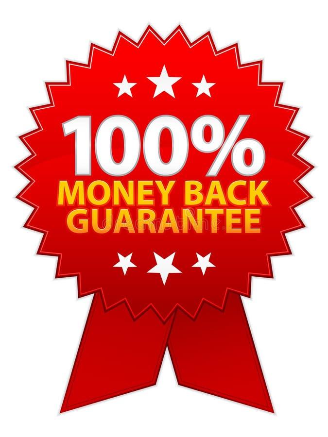 Geld-Rückseiten-Garantie-Farbband vektor abbildung