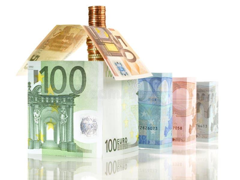 Geld- Real Estate-Konzept mit Banknoten stockfotografie