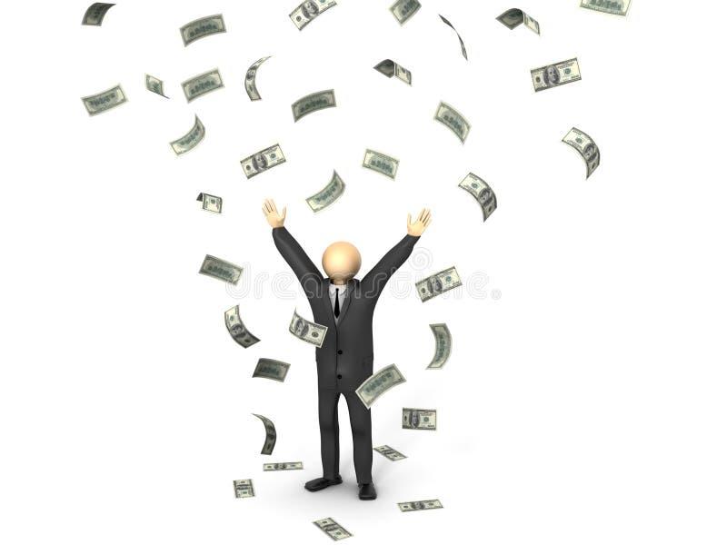 Geld-Regen stockbild