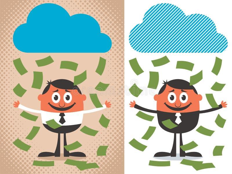 Geld-Regen lizenzfreie abbildung