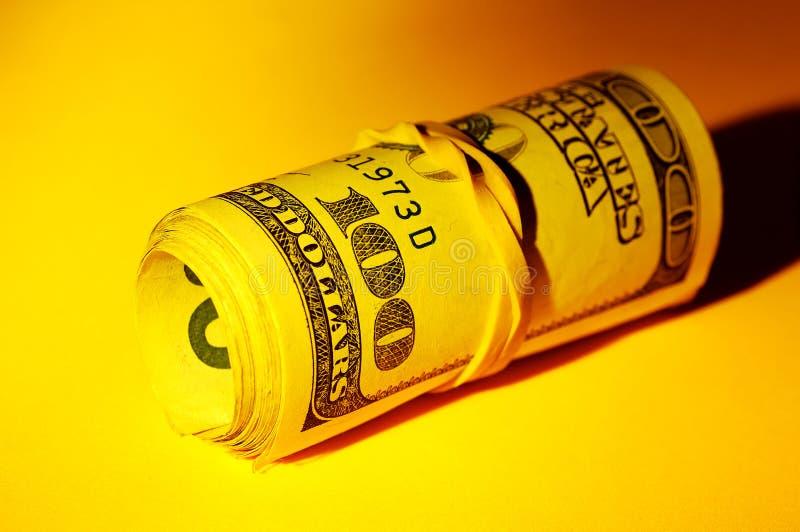 Geld-Rolle stockfotografie