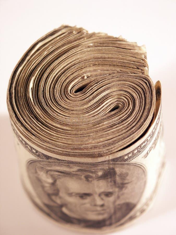 Geld-Rolle lizenzfreies stockfoto