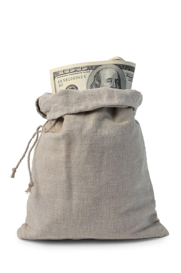 Geld-Sack lizenzfreie stockfotos