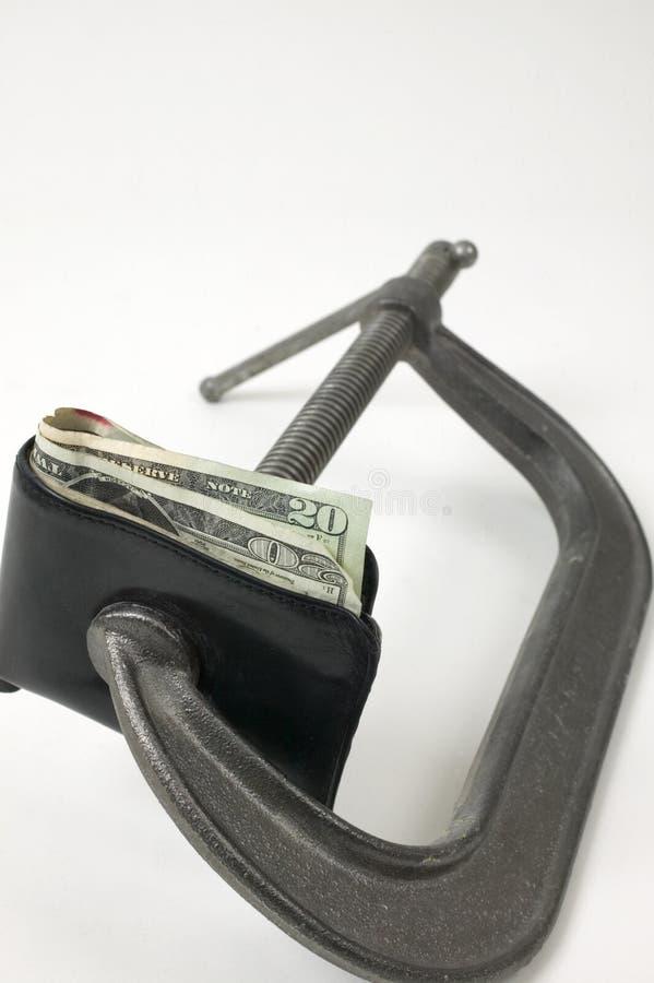Geld sqeeze. royalty-vrije stock afbeeldingen