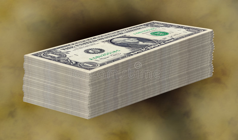 Geld-Stapel lizenzfreie stockfotos