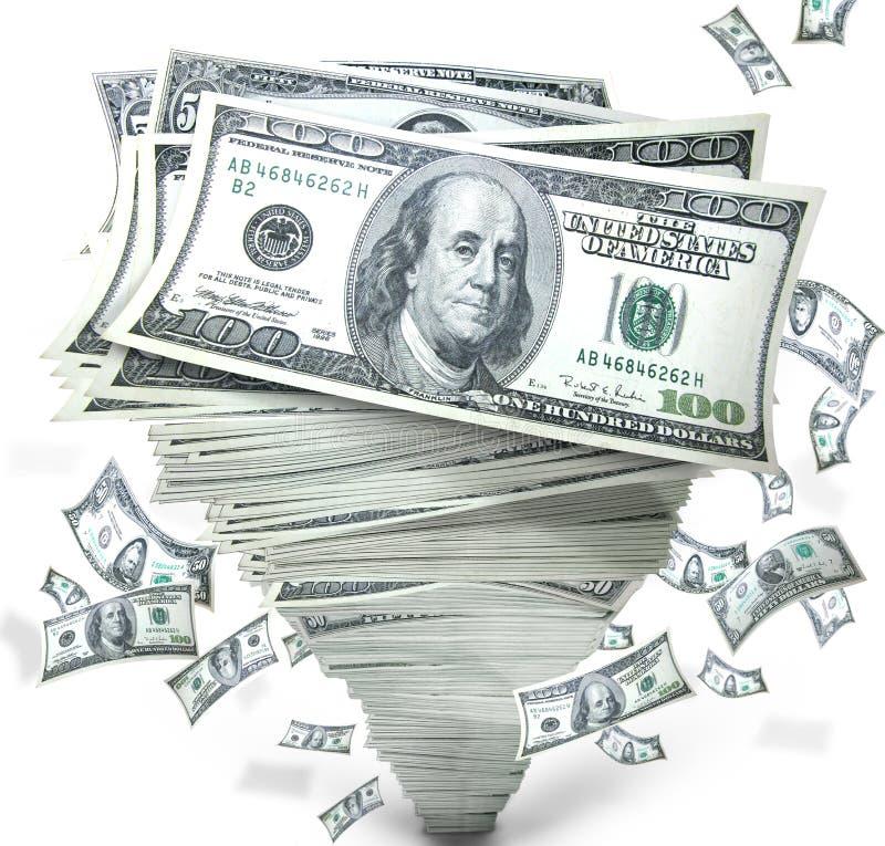 Geld in stapel van contant geld