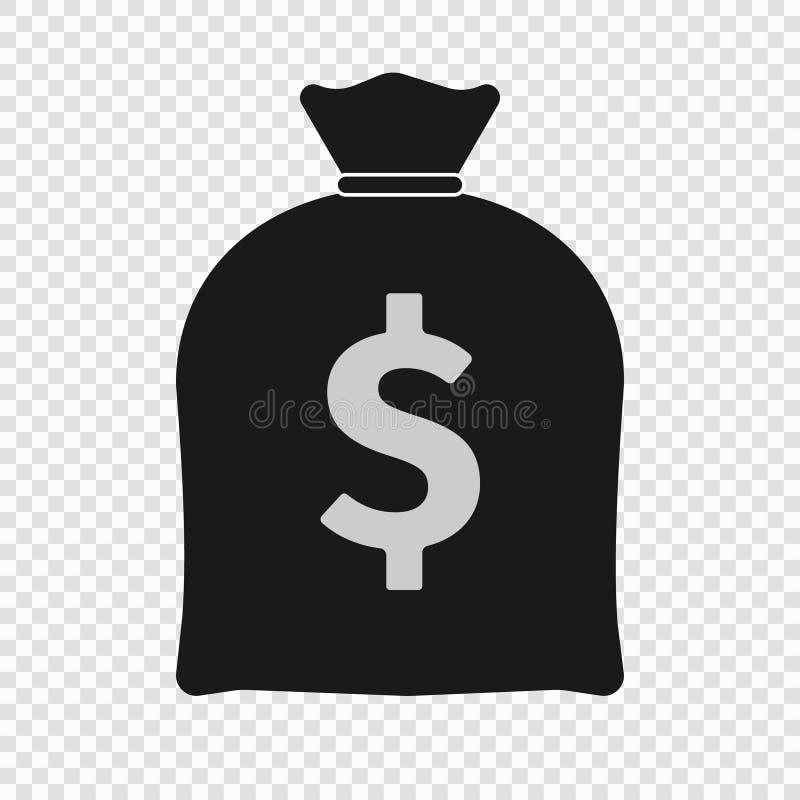 Geld-Taschen-Ikone lizenzfreie abbildung