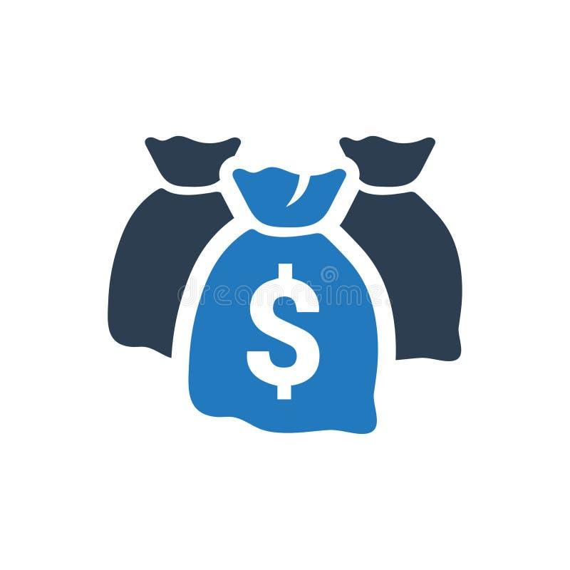 Geld-Taschen-Ikone stock abbildung
