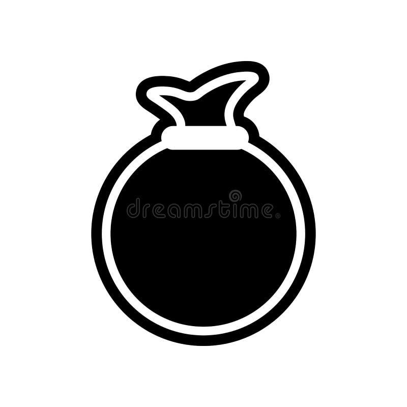 Geld-Taschen-Ikone Element der Finanzierung f?r bewegliches Konzept und Netz Appsikone Glyph, flache Ikone f?r Websiteentwurf und lizenzfreie abbildung