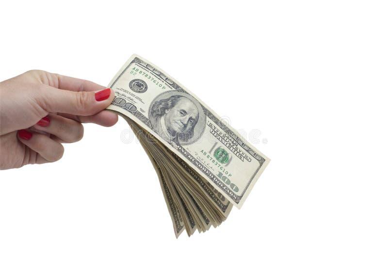 Geld ter beschikking royalty-vrije stock foto