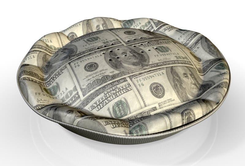 Geld-Torte US-Dollar lizenzfreie stockfotografie