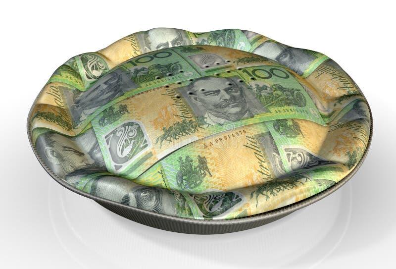 Geld-Torten-australischer Dollar stock abbildung