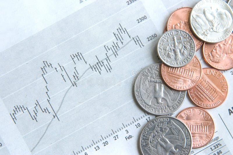 Download Geld und Ablagen stockfoto. Bild von markt, groschen, abschluß - 861702