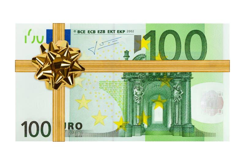 Geld und Bogen lizenzfreies stockfoto
