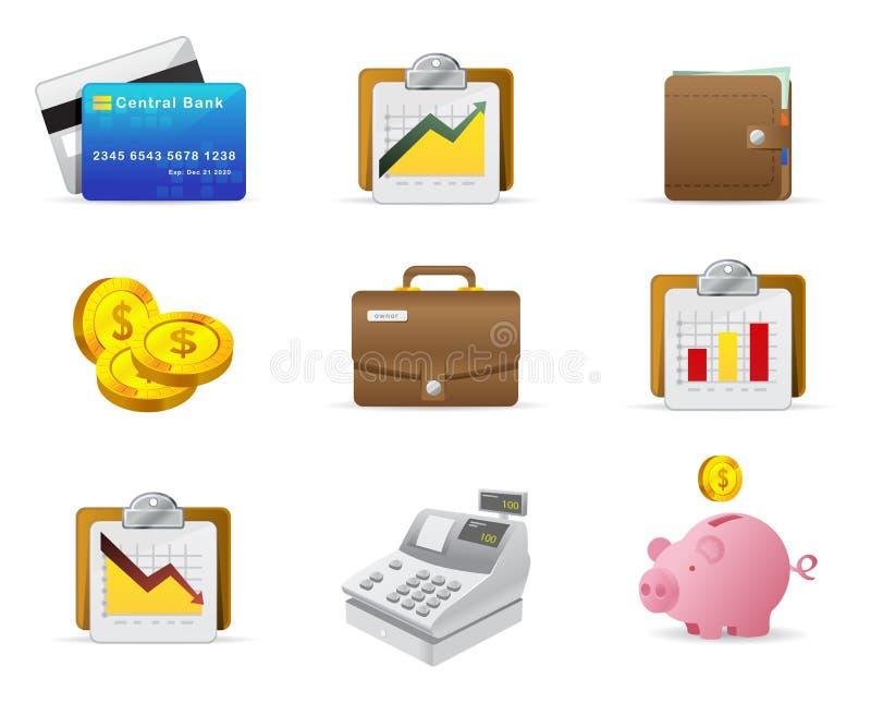 Geld und Finanzikone lizenzfreie abbildung
