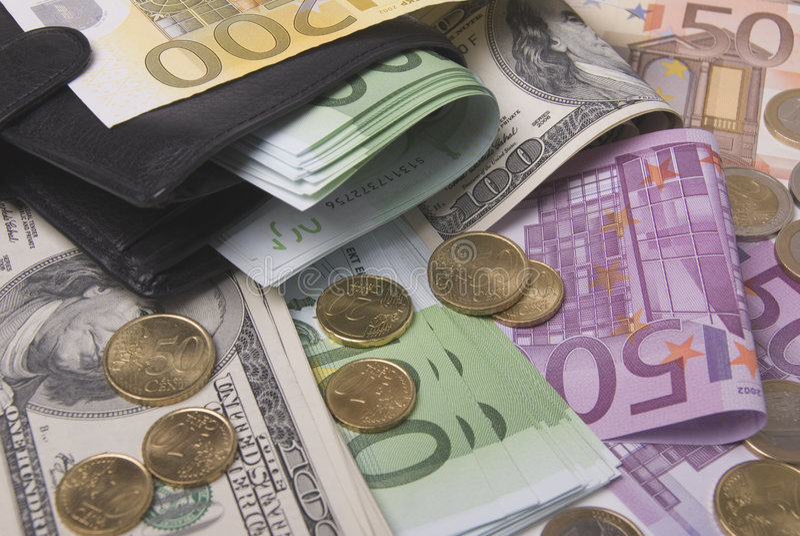 Geld und Fonds lizenzfreies stockfoto