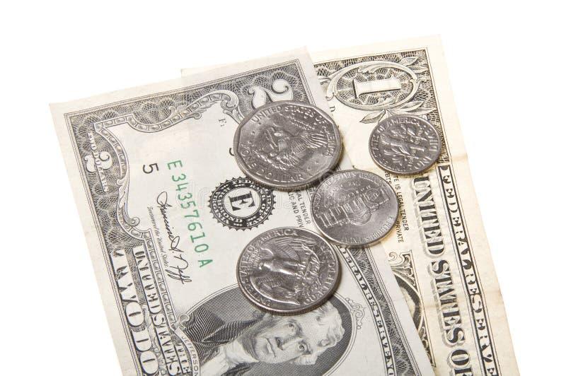 Geld und Münzen lizenzfreies stockbild