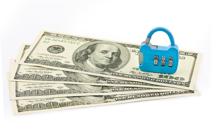 Geld und Verschluss stockbilder