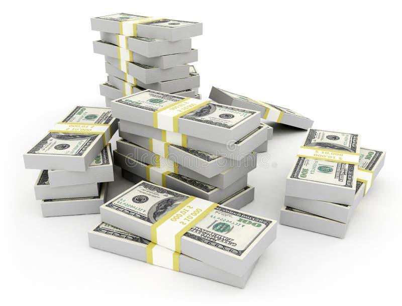 Geld US-Währung stock abbildung