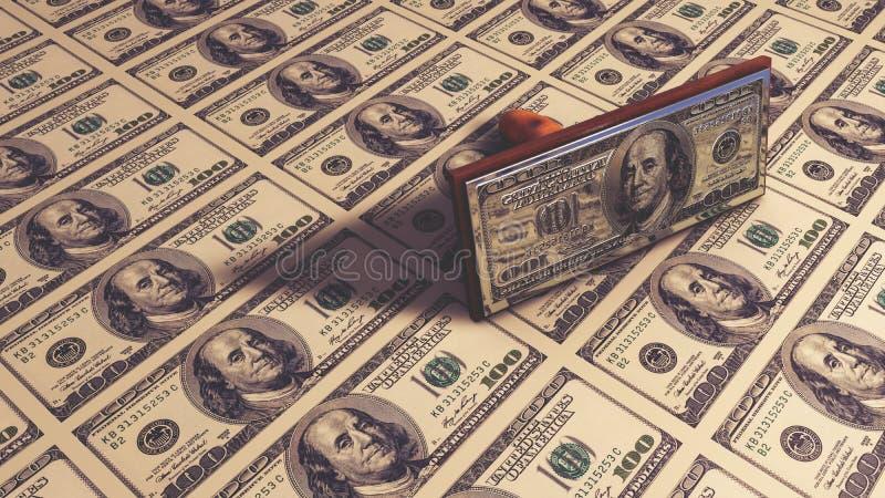 Geld - USD 3d geef terug royalty-vrije illustratie