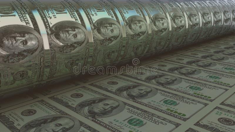 Geld - USD 3d geef terug vector illustratie