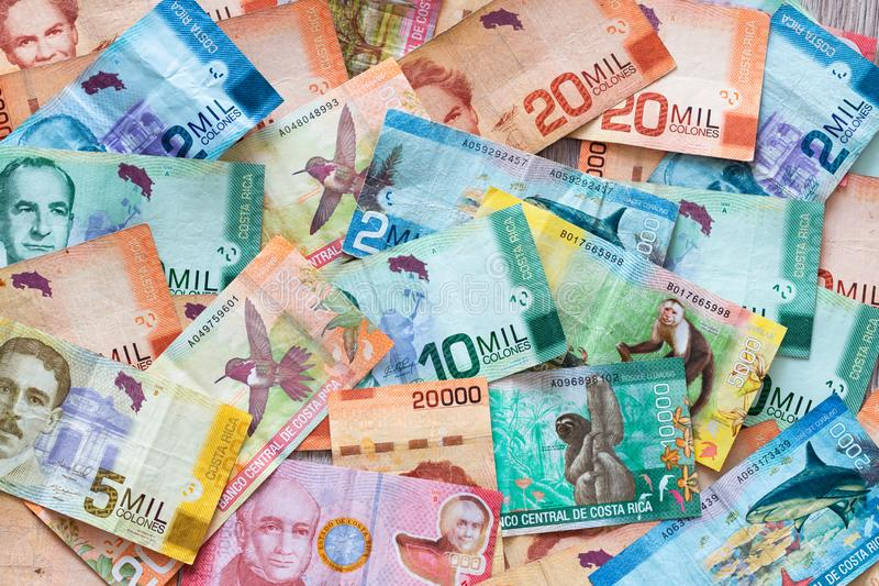 Geld van Costa Rica/Colones/verschillende benamingen