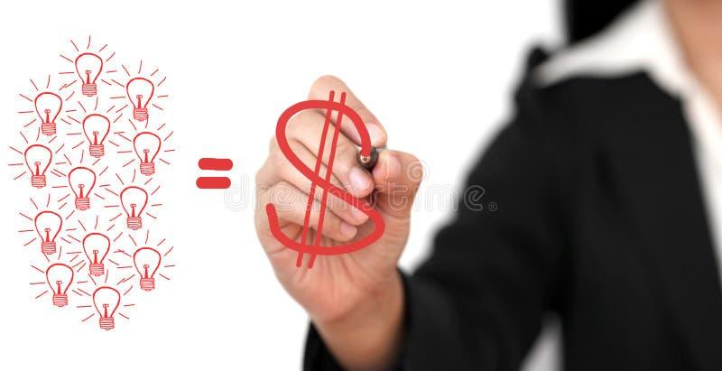 Geld van Creativiteit stock foto's