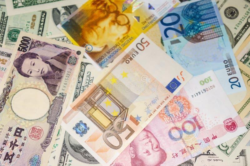 Geld van de wereld stock afbeeldingen