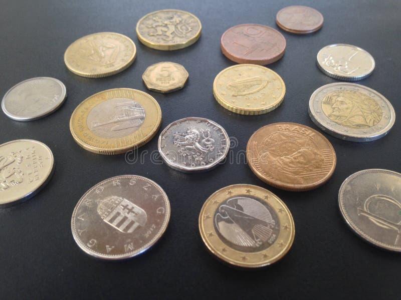 Geld 4 van de wereld stock foto's