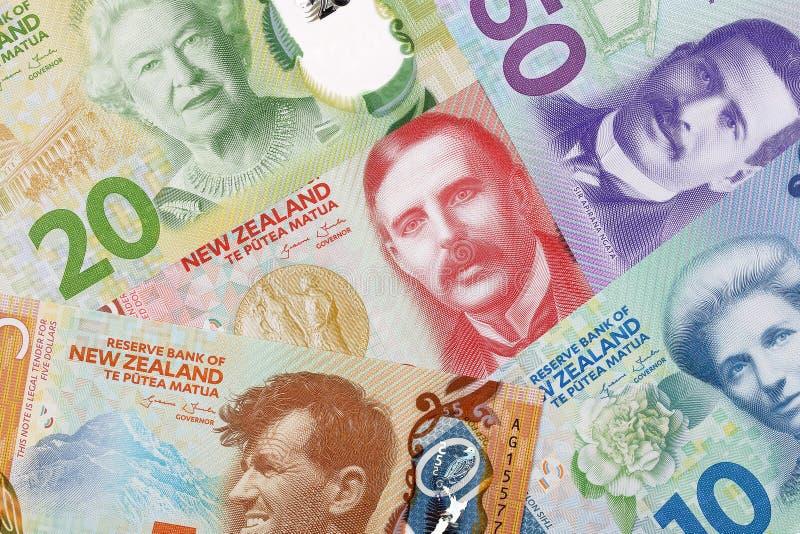 Geld van Nieuw Zeeland, een achtergrond stock afbeelding