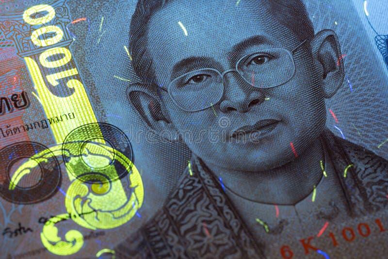 Geld van Thailand in UVstralen