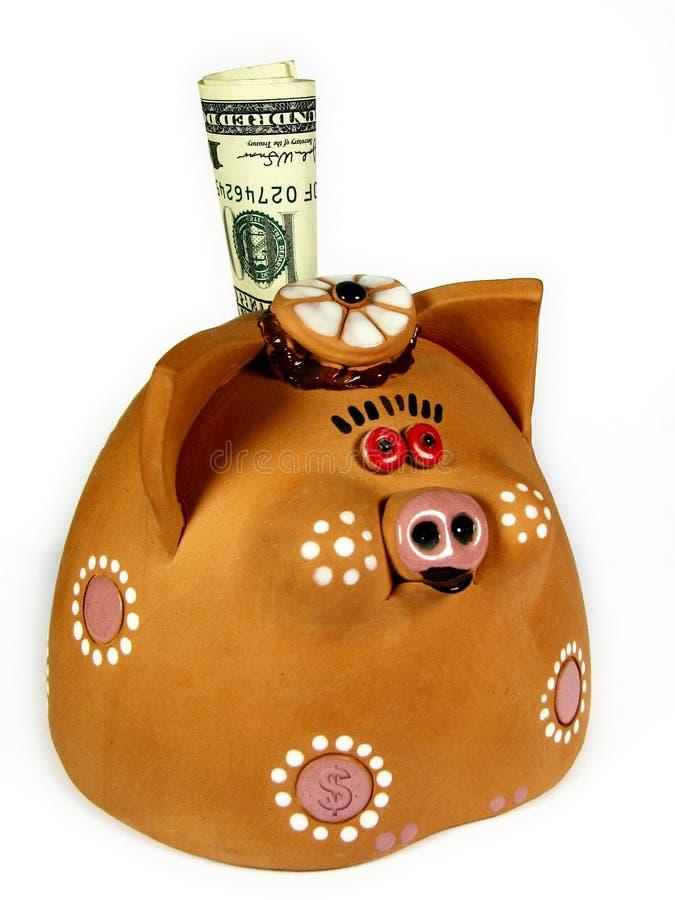 Geld-varken stock afbeelding