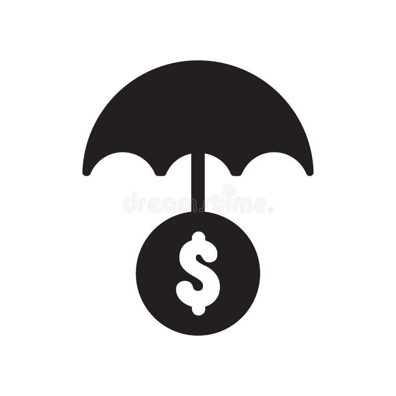 Geld-Versicherungs-Ikone  lizenzfreie abbildung