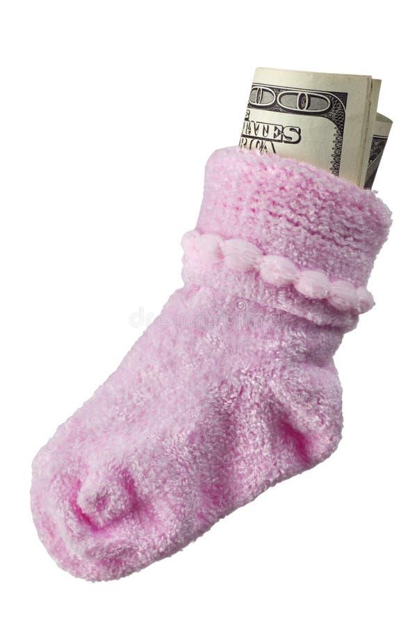 Geld voor baby stock fotografie