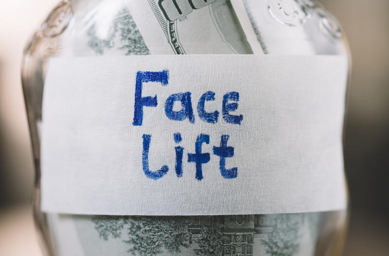 Geld voor facelift royalty-vrije stock afbeeldingen