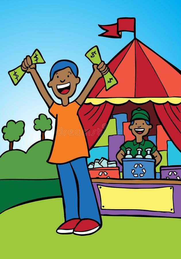 Geld voor Recycling vector illustratie