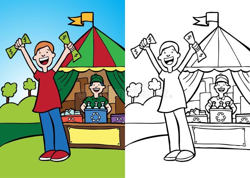 Geld voor Recycling stock illustratie
