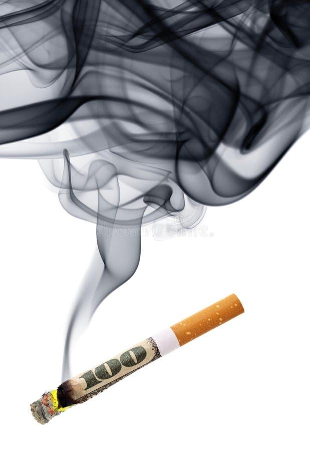 Geld voor rook royalty-vrije stock afbeelding