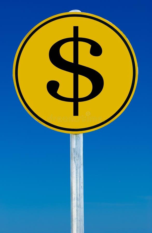 Geld-Zeichen lizenzfreies stockfoto