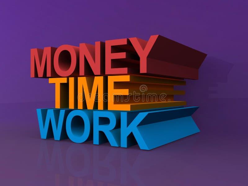 Geld, Zeit, Arbeit lizenzfreie abbildung