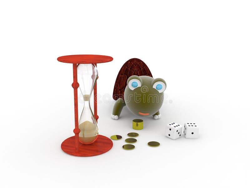 Geld, Zeit, Klugheit stockfotografie