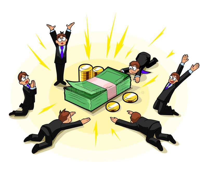 Geldanbetung stock abbildung