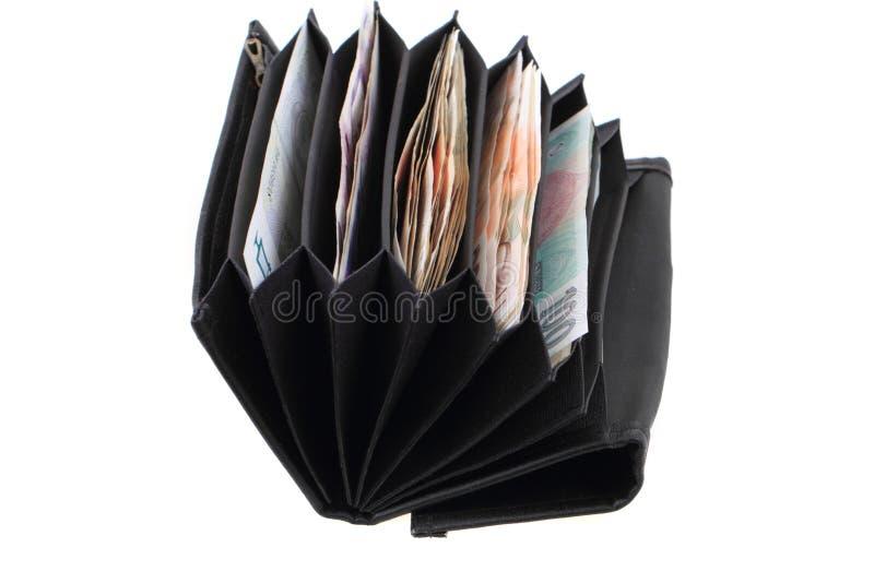 Geldbörse mit tschechischem Geld lizenzfreies stockbild