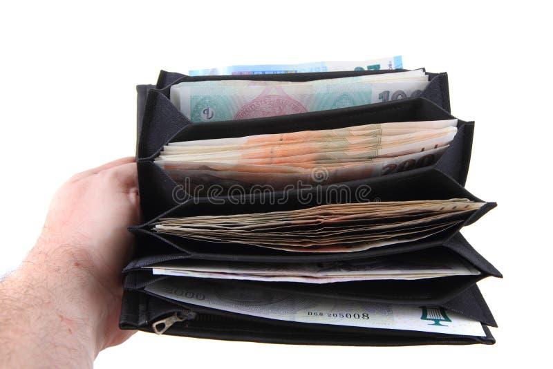 Geldbörse mit tschechischem Geld lizenzfreie stockfotografie