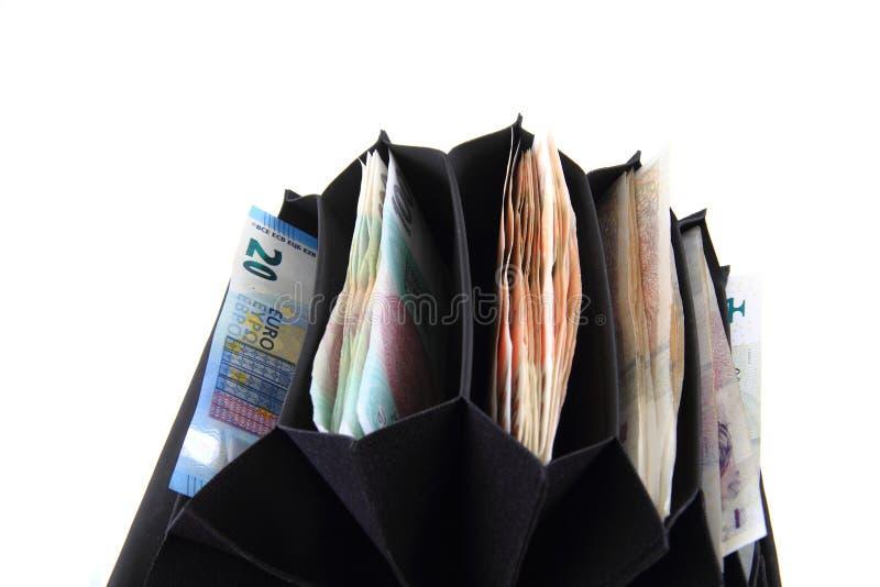 Geldbörse mit tschechischem Geld stockfotografie