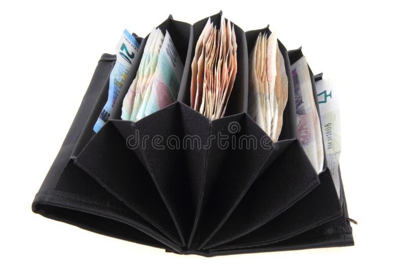Geldbörse mit tschechischem Geld lizenzfreie stockbilder