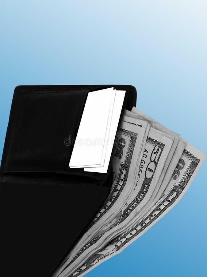 Geldbörse und Geld stockbilder
