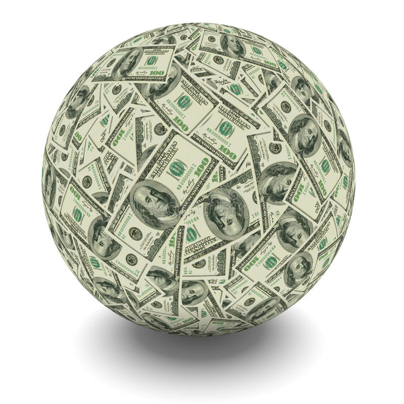 Geldball lizenzfreie abbildung