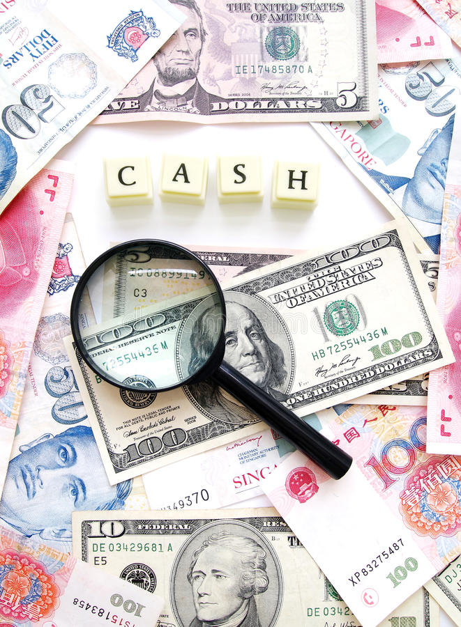 Geldbargeld-Konzepthintergrund stockbilder