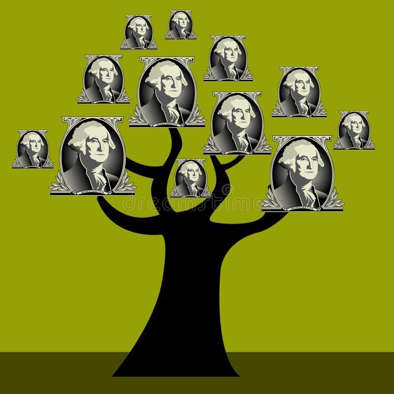 Geldbaum stock abbildung